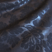 Blue night french terry knit fabric