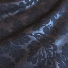 Felpa di cotone blu notte a fantasia barocca