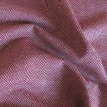 Scampolo Maglia di cotone herringbone rosso/panna 96 cm x 145 cm