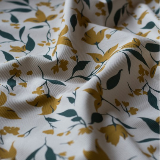 Ivory cotton canvas fabric golden beige Columbine