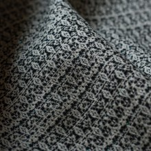 Jacquard Coco black and creamy with green lurex