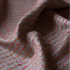 Jacquard Coco pink, coral and silver