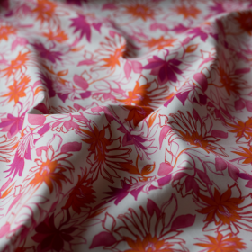 Cotton fabric Dahlia