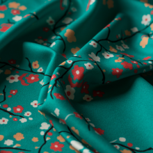 Viscose fabric Japanese flowers