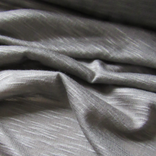 Linen jersey fabric  -  grey mud