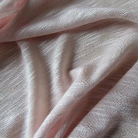 Linen jersey fabric  -  light pink