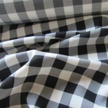 Viscose fabric  black and white checkered