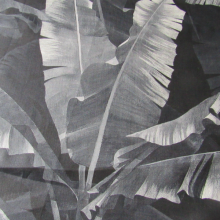 Linen fabric Leaves