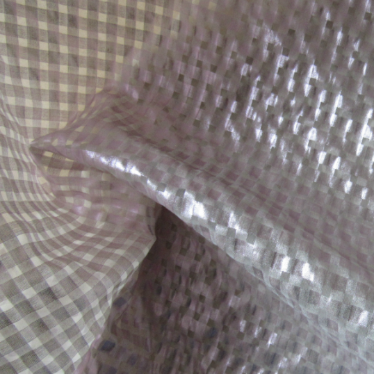 Polyester fabric laminated  Pink pearl