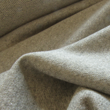 Grey Lurex french terry knit fabric