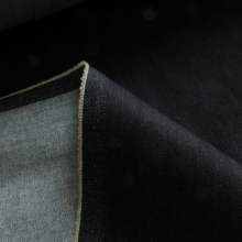 cotton denim fabric with stretch dark blue