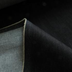 cotton denim fabric with stretch dark blue