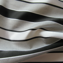 Grey striped cotton fabric
