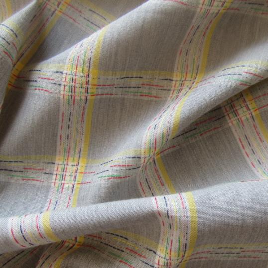 Colors check cotton fabric