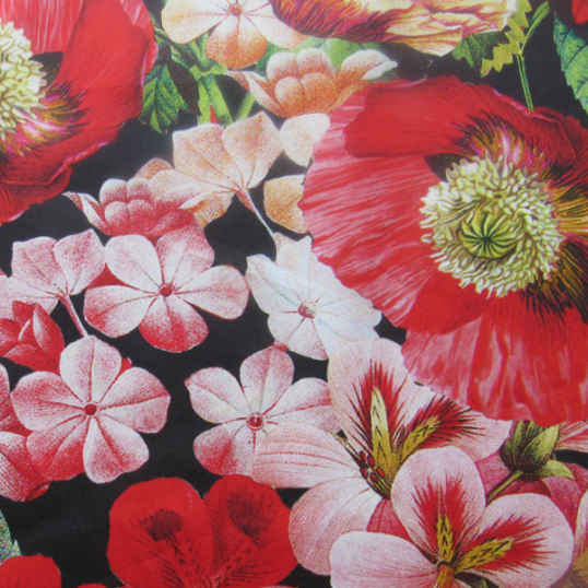 Cotton fabric Poppies