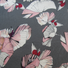 Cotton jersey fabric  - Pink flowers