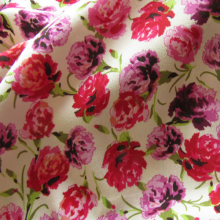 Off white Viscose Crepe fabric Carnation