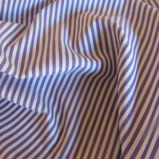 Remnant Purple striped cotton 180 cm x 150 cm