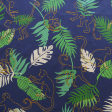 Remnant Tropical print cotton fabric 102 cm x 145 cm