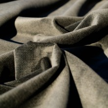 Remnant Dark brown cotton corduroy velvet fabric 150 cm x 145 cm