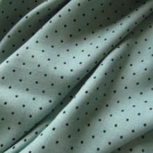 Sea Green Viscose & Wool fabric Polka dots