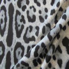 Blue Viscose & Wool fabric Leopard 2