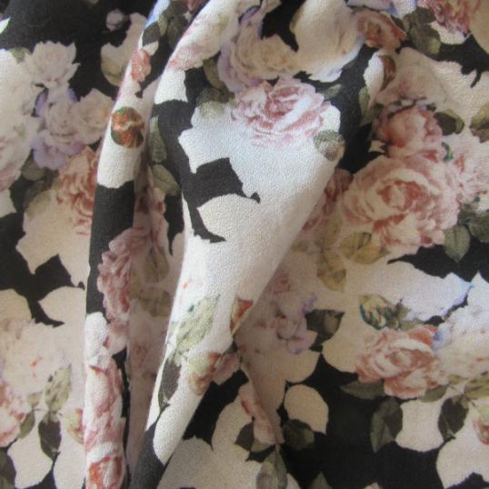 Floral Crepe Viscose fabric