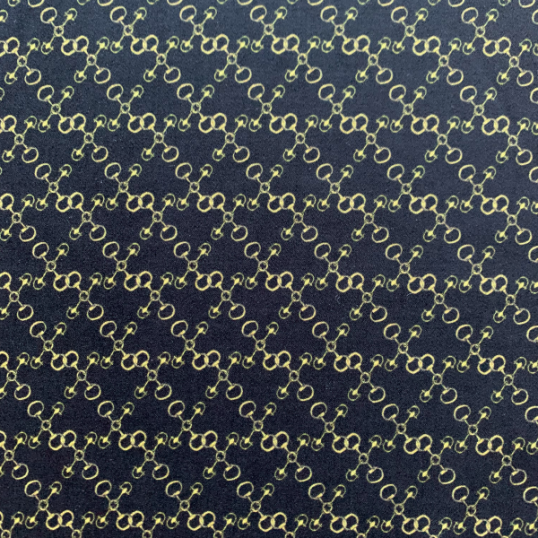 Gucci pattern Cotton sateen fabric