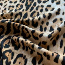 Brown Viscose & Wool fabric Leopard 2