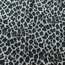 Blue Viscose & Wool fabric Leopard 1