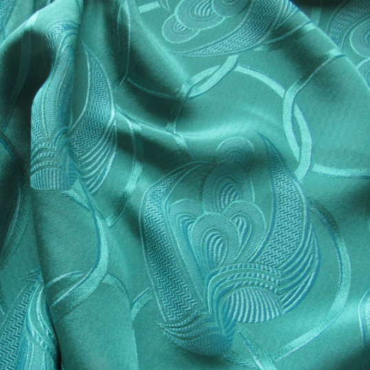 Emerald  Viscose fabric Art Déco