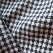 Black gingham Vichy viscose fabric