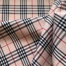 Pink Prince of Wales Viscose fabric