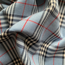 Light blue Prince of Wales Viscose fabric