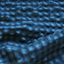 Italian wool seersucker fabric