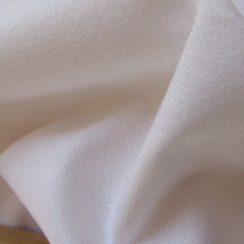 "Remnant Cotton fabric ""White Shirt"" Herringbone 52 cm x 153 cm"