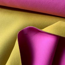 Remnant Scuba fabric Fuchsia and Mustard 114 cm x 150 cm