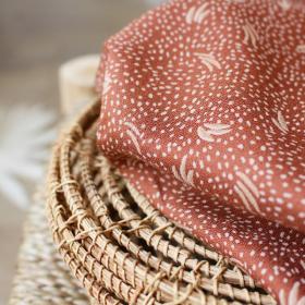 Crepe Viscose fabric Dune Chestnut Atelier Brunette