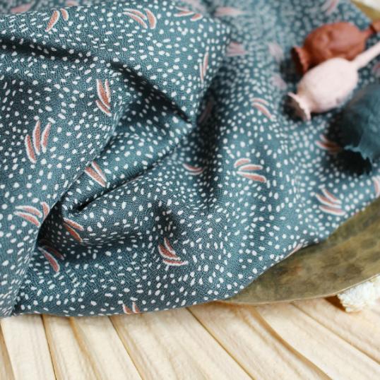 Crepe Viscose fabric Dune Smokey Atelier Brunette