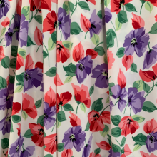Floral Viscose Jersey fabric red & purple
