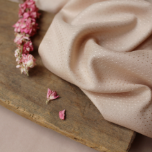 Dobby Blush Fabric Atelier Brunette