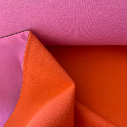 Orange and pink Scuba fabric