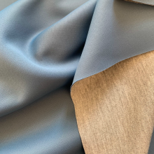 Petrol blue and Grey Scuba fabric