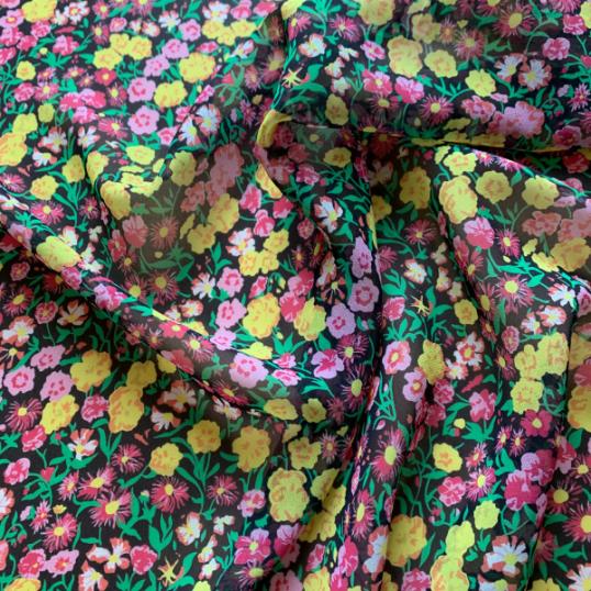 Floral Silk Chiffon