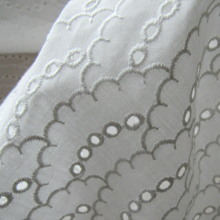 Scampolo white Broderie anglaise cotton fabric Dolce & Gabbana 32 cm x 140 cm