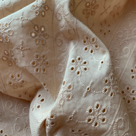 Nude Broderie Anglaise Arabesque and Flowers