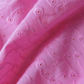 """Pink Broderie Anglaise """"Volutes"""""""