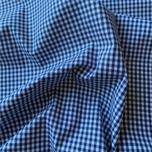 Dark blue gingham Cotton fabric