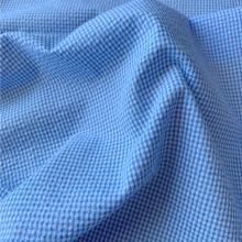 Light Blue Vichy Seersucker fabric