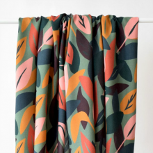 Viscose Fabric Sous bois Lichen